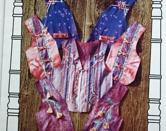 Quilt Vest Pattern for Knot Your Average Vest by Homestead Specialties, Vest Worn 36 ways, Quilted Vest Pattern, 4 sizes, Quiltsy Destash