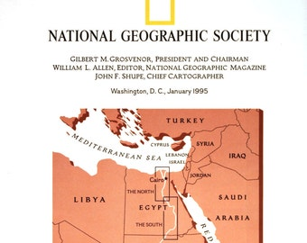 Native American Heritage Vintage Map Cartography Maps - Map of egypt national geographic