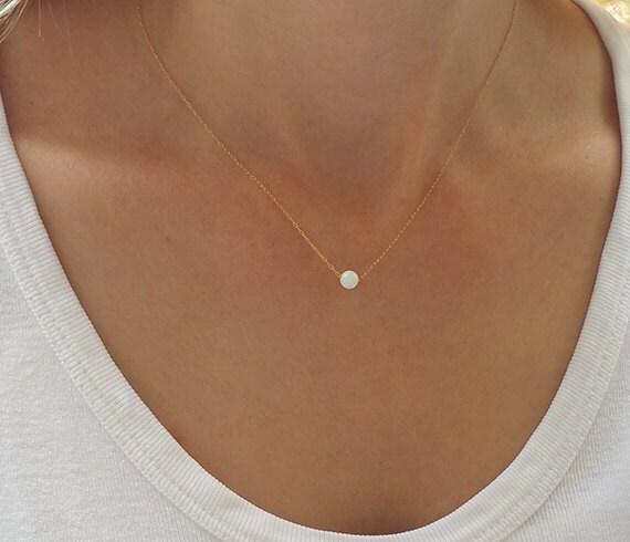 Opal Ball Necklace Gold Necklace Opal Necklace Opal