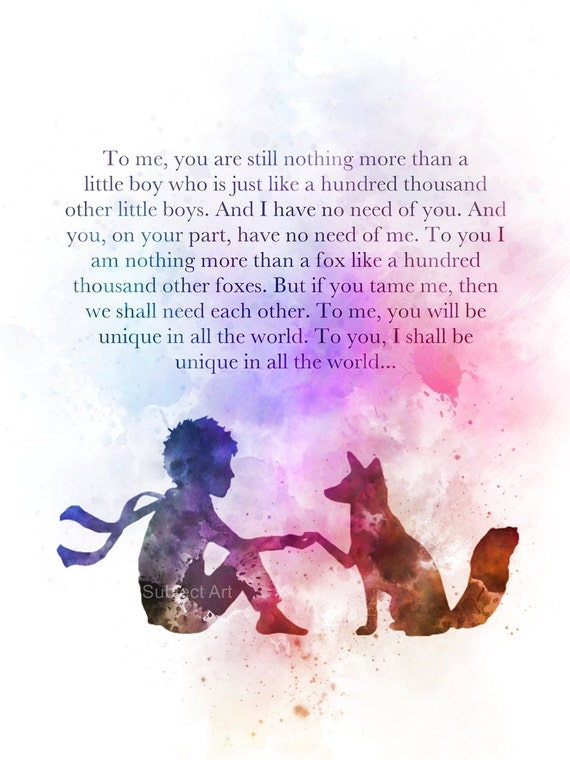 The Little Prince Inspired Quote 2nd Edition Art Print: The Little Prince Inspired Quote 3rd Edition ART PRINT