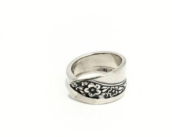 Silver Spoon Ring  circa 1953 - Silverware Jewelry - Spoon Jewelry