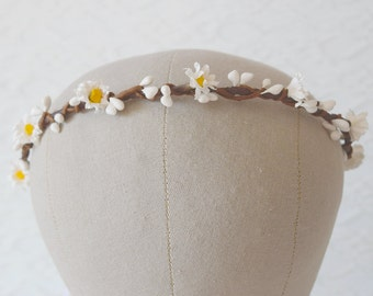 Flower Circlet, daisy flower crown, bridal hair accessories, wedding hair accessories, floral crown, flower crown, festival crown SUMMERTIME