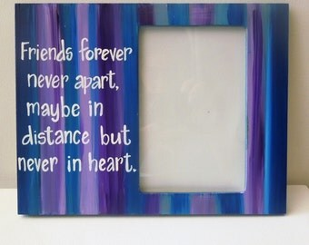 best friend picture frame any colors made to order long distance friendship picture frame free customization friend photo frame custom