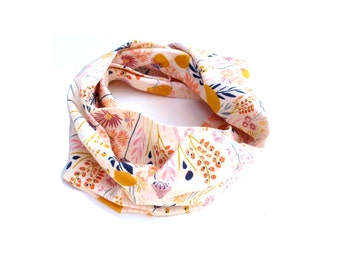 Girls infinity scarf, baby girl clothes, baby girl clothing, baby girl, baby scarf, toddler scarf, girls scarf, cream garden infinity scarf