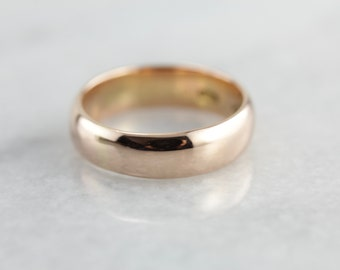 Antique Rose Gold Wedding Band for Him or Her MW6N71-P