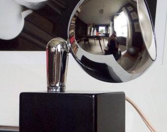 Eyeball Lamp Chrome Lamp Desk Lamp Mid Century Modern 1970s Table Lamp  Orb Lamp