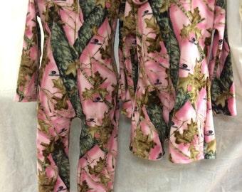Mossy Oak Breakup Pink Camo Funsie Onesie