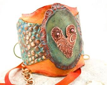 Love In Layers. Bracelet Cuff.