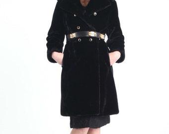 60s Borgaza Plush Faux Fur Coat