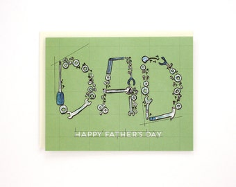 Dad Tools - Father's Day greeting card / DAD-TOOLS
