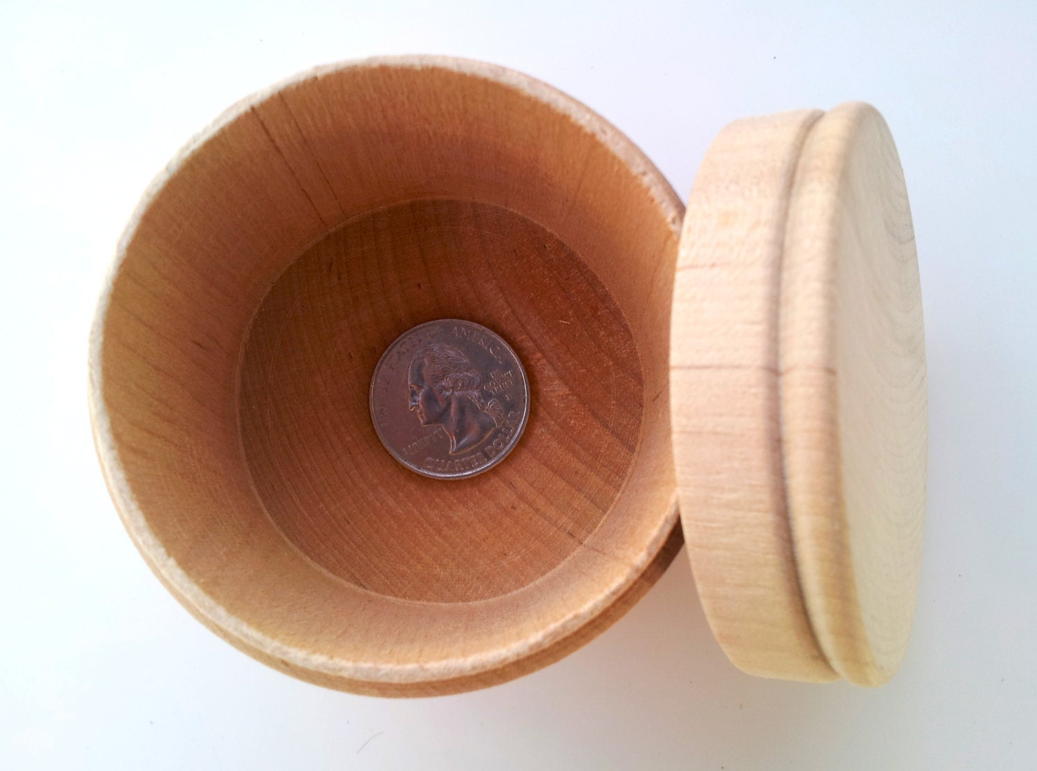 1 large round wooden box unfinished diy treasure box for Circular wooden box