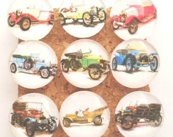 Antique Cars Push Pins, Vintage Cars Push Pins, Retro Cars Pushpins, Car Thumbtacks, Glass Push Pin, Decorated Tacks, Cars Pushpin, Old Cars