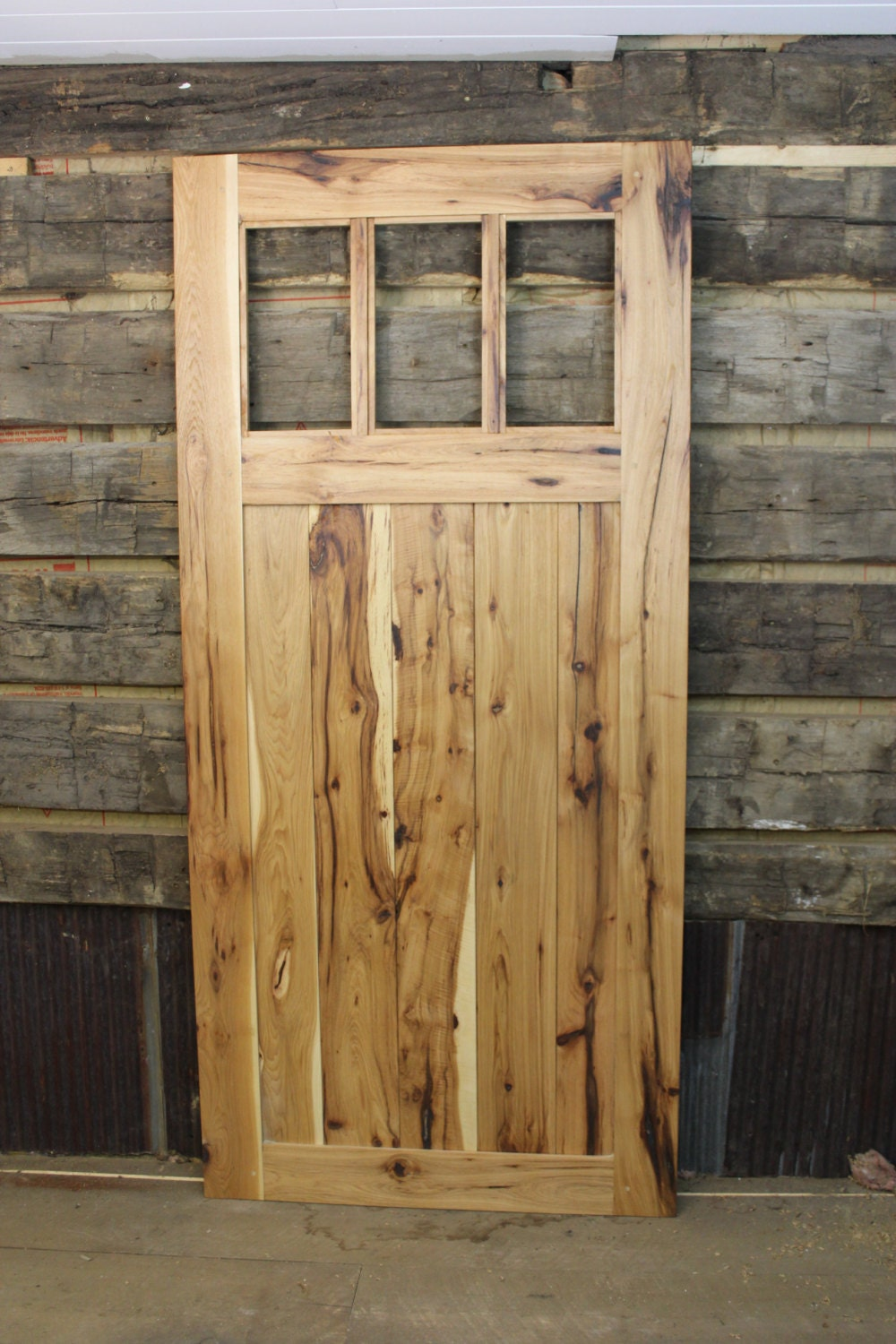 Hickory Mission Style Barn Door Room Dividers Made To Order