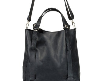 Big black bag leather