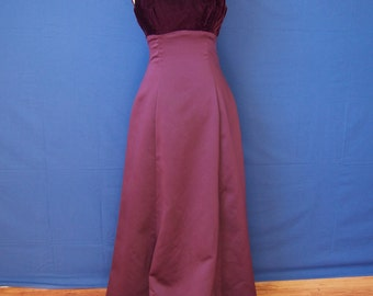 NEW 1960s Holiday Plum/Maroon Dress