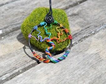 Custom Color Aluminum Tree Of Life Necklace