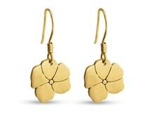 Blooming Flower Earrings #14k Gold Plated over 925 Sterling Silver #Azaggi E0494G