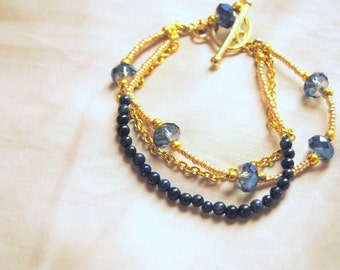 Blue and Gold Royal Bracelet