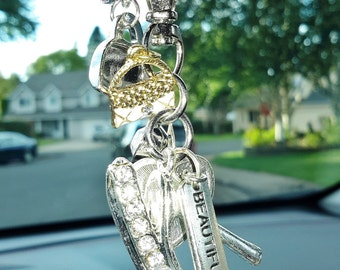 BLING SHOE rear view mirror dangle for your car! Express yoursellf-with this gorgeous accent.  Makes a great gift for someone or you!