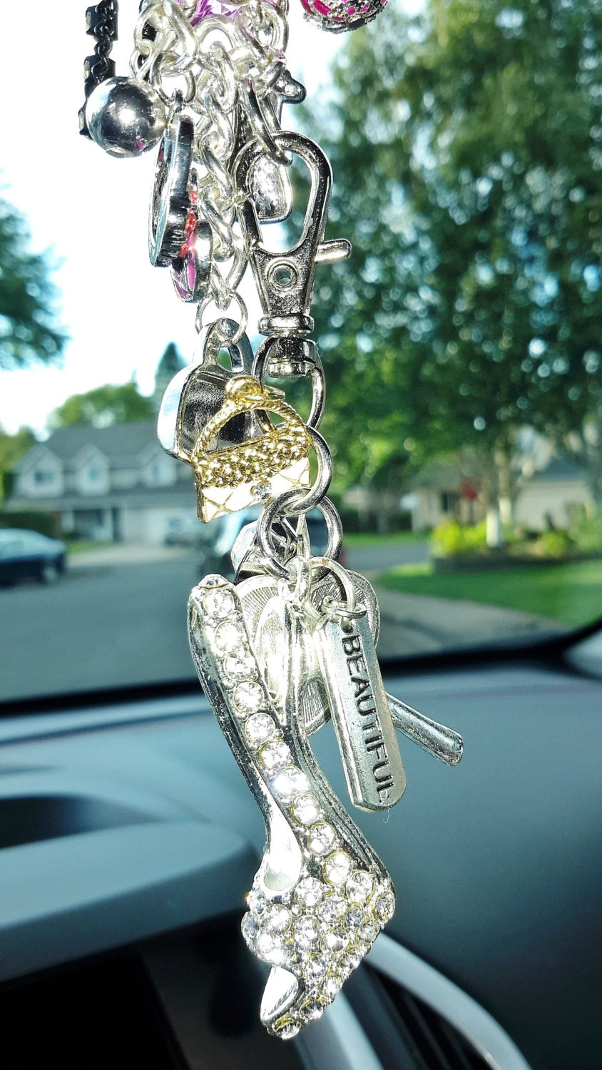Bling Shoe Rear View Mirror Dangle For Your Car Express