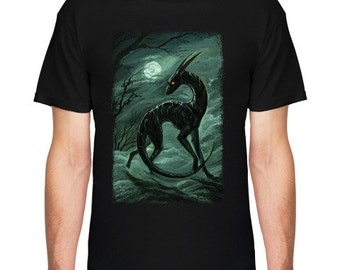 T Shirt with artistic print fantasy
