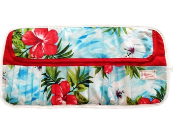 Tropical Makeup Brush Roll
