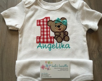 teddy bear picnic birthday shirt