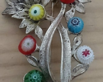 Vintage murano glass brooch