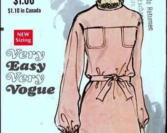 """Vogue 7636  Misses' One Piece Dress Bust 32.5"""""""