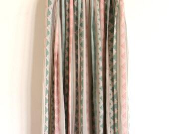 Mid-Length Pastel Aztec Skirt