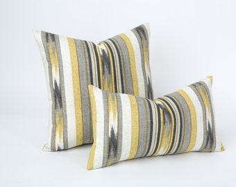 modern ikat pillow etsy