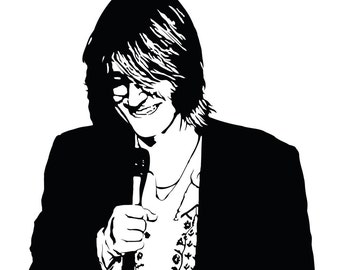 Mitch Hedberg Art Print - Multiple Sizes Available - Stand-up Comedian Mitch Hedberg - Surreal and Unconventional Comedy
