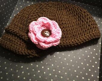 Crochet Baby Hat, Crochet Baby Girl Hat, Newsboy Hat, Hat For Baby Girl