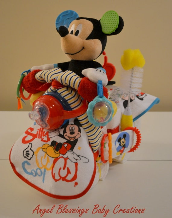 Motorcycle Diaper Cake Mickey Mouse Disney By Angelblessings12