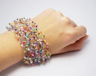 Gift|idea summer bracelet best bracelet trending jewelry beaded bracelet LGBT jewelry rainbow bracelet sister bracelet bib bracelet  teens