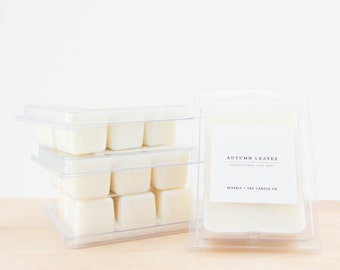 AUTUMN LEAVES Scented Soy Wax Melts   Wax Tarts, Wax Melt   Soy Wax   Clamshell Melt   Candle Melts
