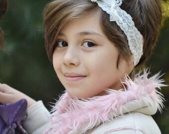 Mix color flower, flower crown, lace headband, whimsical headband, flower headband, toddler headband, girls headband, headband