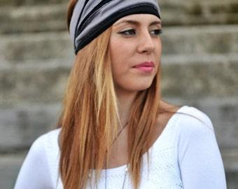 Black Headband, Grey Purple Head Wrap, Sports Headbands, Wide Headband, Womens Turban, Turban Headband, Womens Headband