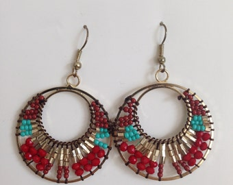 Colorful beaded earrings - lightweight and delicate.