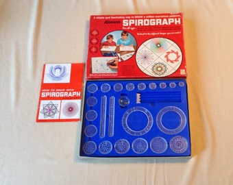 Vintage Spirograph - 1970 Kenner Products - Complete