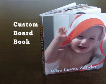 5.5x5.5 (16 page & 24 page) Custom Board Book Printed – Personalized Kids Photo Book - Baby Book, Wow Look @ Me – #custom