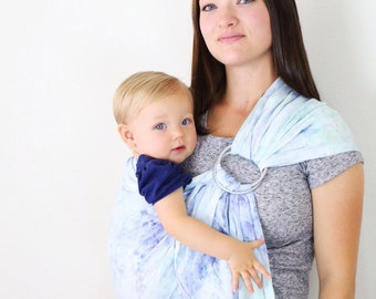 baby ring sling, baby carrier, linen ring sling, hand dyed, nursing cover