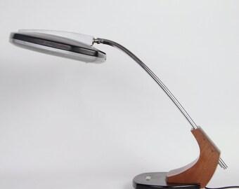 Desk Lamp Fase Falux chrome black vintage mid-century gradient lighting
