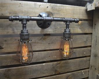 Wonderful Diy Industrial Light Fixture  Home Design Ideas