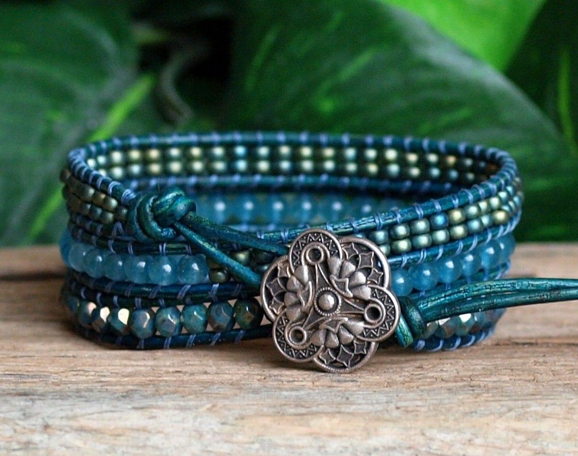 Beaded bracelets - quality silver bracelets leather