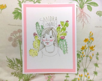 Sandra Cisneros Art Print