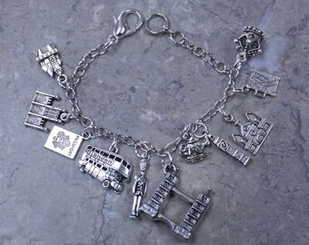 London England Charm Bracelet