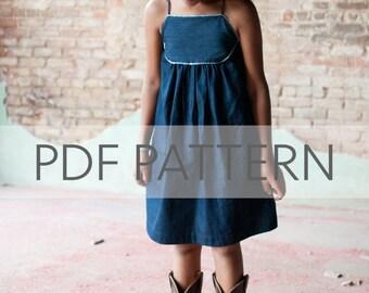 Mae Dress PDF, girl dress pattern, dress pdf, girl summer pdf, tween pattern, baby pdf, girl dress pdf, sewing pdf, sewing patterns