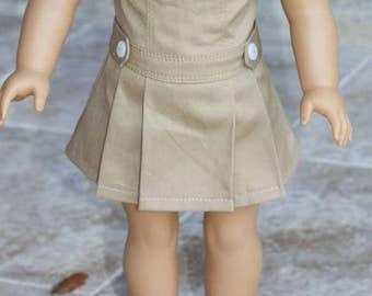 Jumper for 18 inch dolls - Khaki