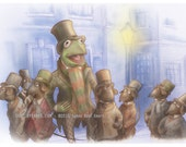 "Muppets Christmas Carol - ""One More Sleep til Christmas"" - Tribute Illustration Print"